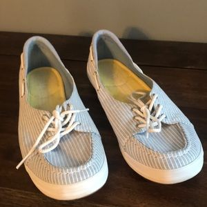 Keds Pinstripe Boat Shoes